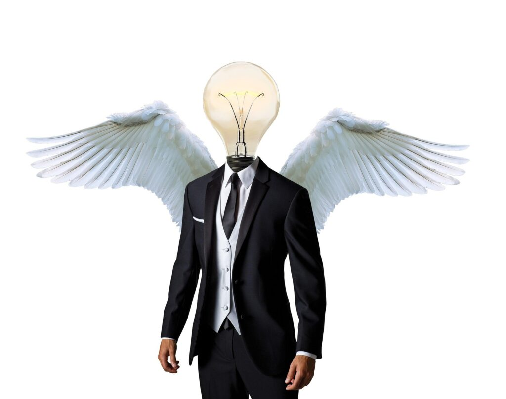 羽が生えている人
