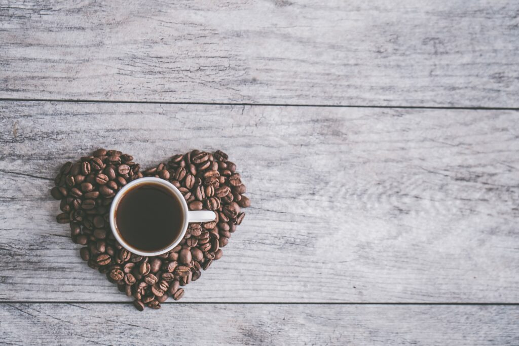 コーヒとハートマーク