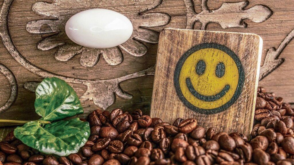 コーヒー豆とスマイル