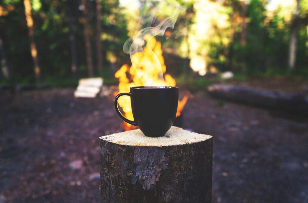 コーヒーと火